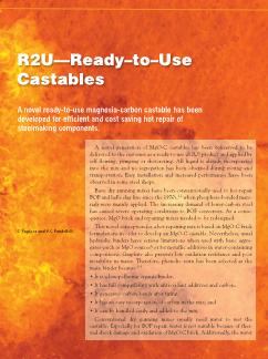 R2U—Ready-to-use castables