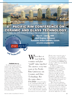 8th Pacific Rim Conference on Ceramic and Glass Technology
