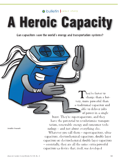 A heroic capacity—Can capacitors save the world's energy and transportation systems?