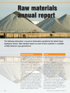 Raw materials annual report