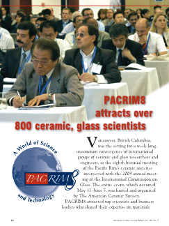 PACRIM8 attracts over 800 ceramic, glass scientists
