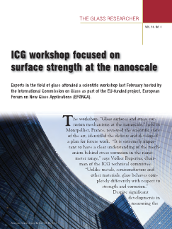 ICG workshop focused on surface strength at the nanoscale