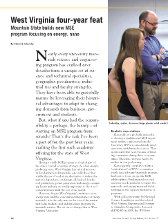 West Virginia four-year feat: Mountain State builds new MSE program focusing on energy, nano
