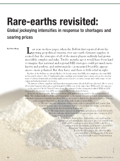 Rare-earths revisited: Global jockeying intensifies in response to shortages and soaring prices