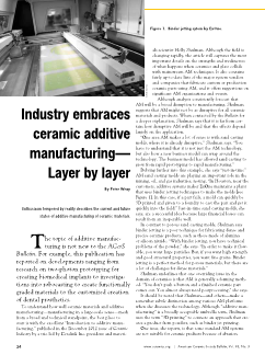 Industry embraces ceramic additive manufacturing—Layer by layer