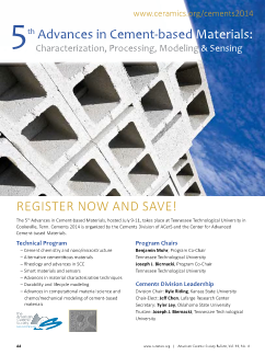 5th Advances in Cement-based Materials: Characterization, Processing, Modeling & Sensing