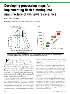 Developing processing maps for implementing flash sintering into manufacture of whiteware ceramics