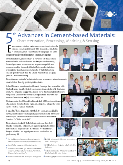 5th Advances in Cement-based Materials highlights