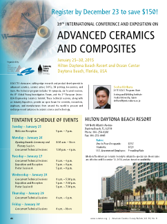 ICACC'15: 39th International Conference and Exposition on Advanced Ceramics and Composites
