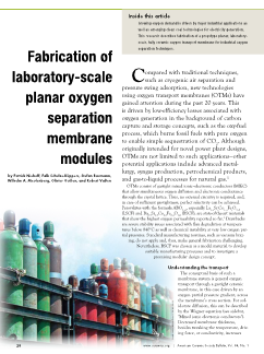 Fabrication of laboratory-scale planar oxygen separation