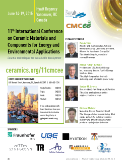 11th International Conference on Ceramic Materials and Components for Energy and Environmental Applications