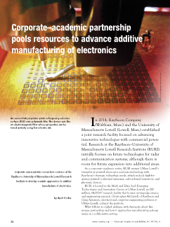 Corporate–academic partnership pools resources to advance additive manufacturing of electronics