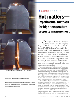 Hot matters—Experimental methods for high-temperature property measurement