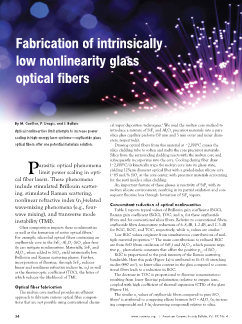 Fabrication of intrinsically low nonlinearity glass optical fibers