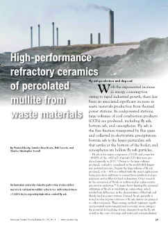 High-performance refractory ceramics of percolated mullite from waste materials