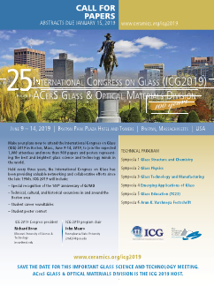 ICG 2019 call for papers